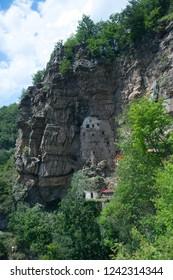Upper skete (hermitage) of Saint Sava (13th century), view of cells, Serbia