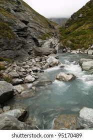 Upper Snowy Creek, Rees-Dart track, New Zealand
