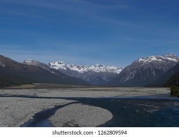Upper Waimakariri River, South Island, New Zealand