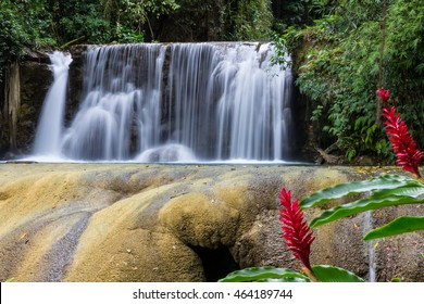 Upper waterfall at Y S Falls, Jamaica