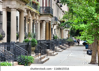 Upper West Side brownstone - New York residential architecture.