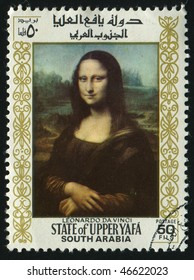 UPPER YAFA - CIRCA 1967:  Mona Lisa or La Gioconda. Louvre, Paris, France, circa 1967.