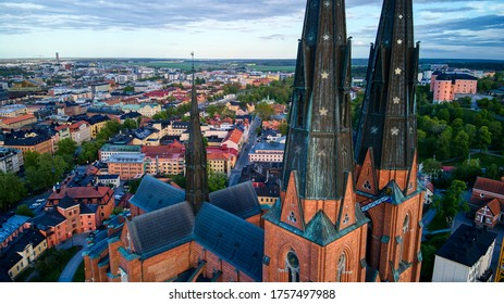 Uppsala Cathedral by Aerial Photography