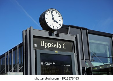 UPPSALA, SWEDEN- 11 AUGUST 2020: Exterior of the new station building at Uppsala Central Station in Uppsala. Photo Jeppe Gustafsson