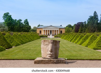 Uppsala, Sweden - Jun 1, 2016 : External front view of the Uppsala Botanic Garden.