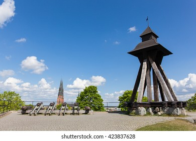 Uppsala, Sweden - May 20, 2016 : View of The Gunilla Bell of the Uppsala castle.