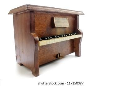 Upright piano isolated