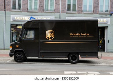 UPS Truck At Amsterdam The Netherlands 2019