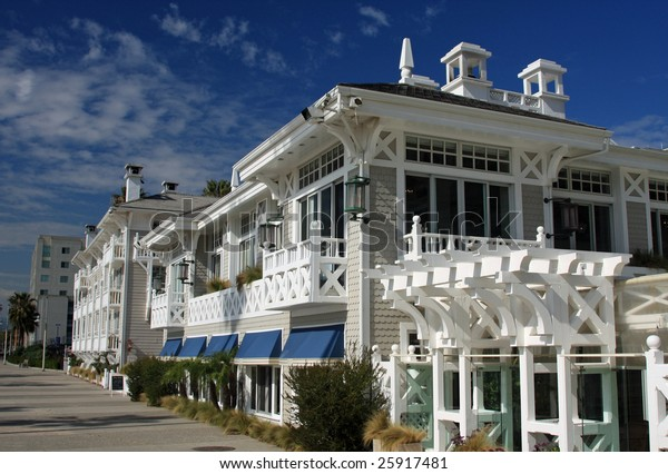 Upscale Beachfront Hotel Santa Monica California Stock Photo