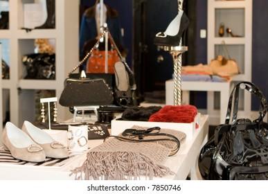 upscale fashion display