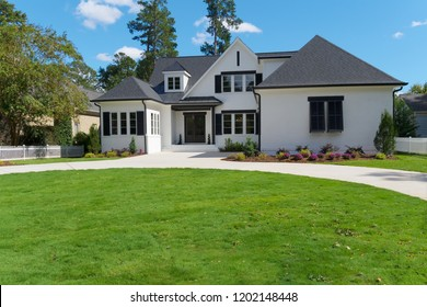 Upscale house exterior
