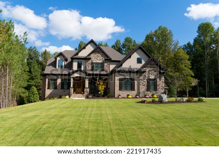 upscale suburban house stock photo edit now 221917435 shutterstock