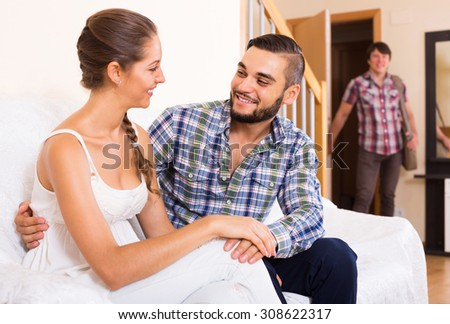 Upset Adult Discovering Cheating Partner At Home