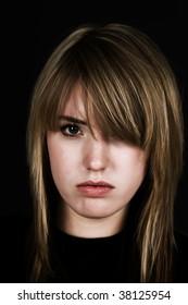 Upset girl (bleach bypassed)