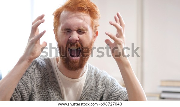 Upset Man screaming, Going Crazy