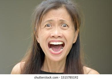 An Upset Old Female Senior
