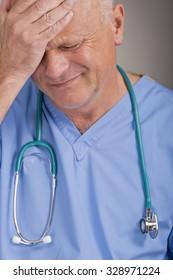 Upset Scrub Nurse/Doctor