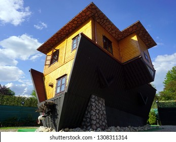 Upside down house, tourist attraction, Zakopane, Poland, May 2018
