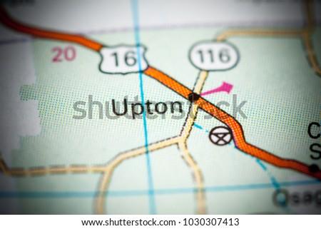 Upton Wyoming USA On Map Stock Photo (Edit Now) 1030307413