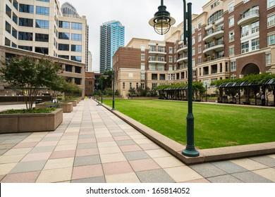 Uptown Charlotte, North Carolina cityscape.