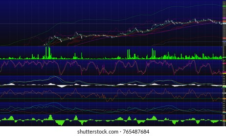 Uptrend. financial, rising, economic rally.stock chart high
