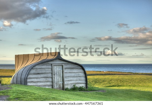 An Upturned Boat Shed on the Holy Island Lindisfarne