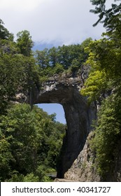 Upwards view of the Natural Bridge, in Virginia, USA