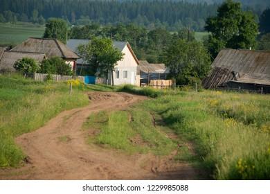 Ural - rural landscape