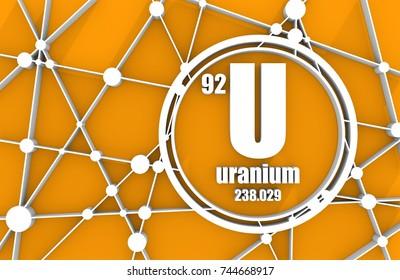 Uranium images stock photos vectors shutterstock uranium chemical element sign with atomic number and atomic weight chemical element of periodic urtaz Choice Image