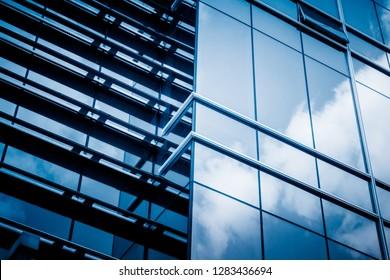 Urban abstract - windowed corner of office building