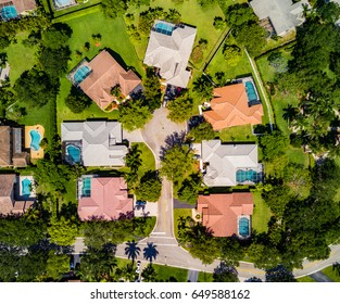 Urban Aerial Photography in South Florida.
