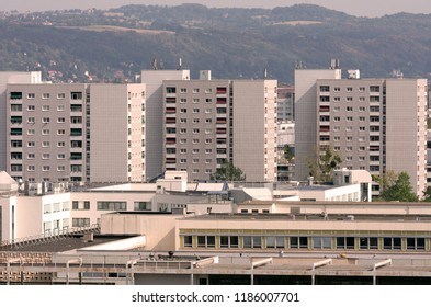 Urban apartment blocks in Dresden