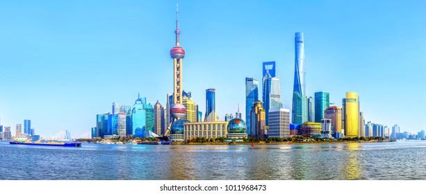 Urban architectural landscape in the Bund, Shanghai