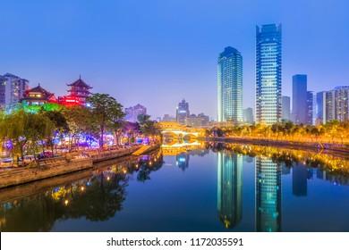 Urban architectural landscape of Jinjiang, Chengdu