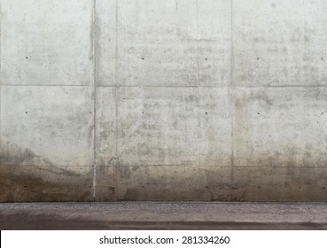 Urban background. Empty concrete wall and floor.