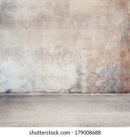Urban background. Empty street wall.