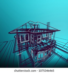 Technical diagram stock images royalty free images vectors urban blueprint with a 3d building model malvernweather Images