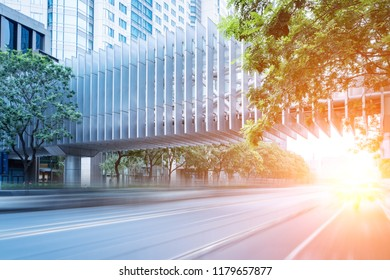 Urban building road scenery