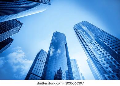 Urban building skyscrapers in Shanghai Financial District