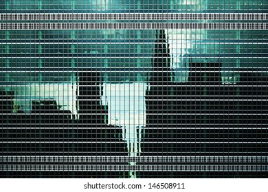 Urban Building Wall Texture With City and Sky Reflections