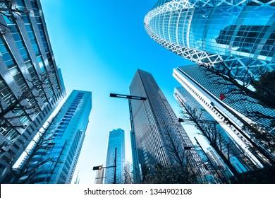 Urban buildings and blue sky