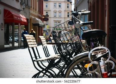 Urban City Scene with bike