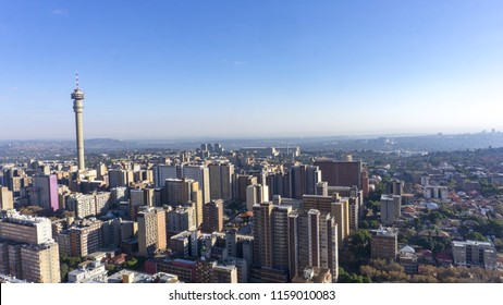 A urban city view at Johannesburg, South Africa