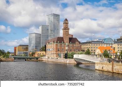 Urban cityscape of Malmo, Sweden