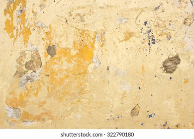 Urban colonial wall grunge yellow background