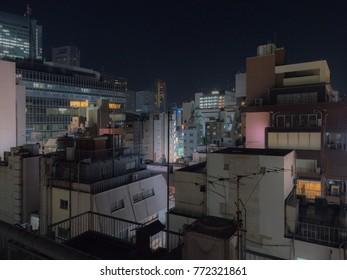 Urban downtown night