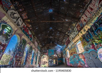 Urban exploration is the explotion of man made structures, usually abandoned ruins or not usually seen components of the man made enviroment. Halloween background.