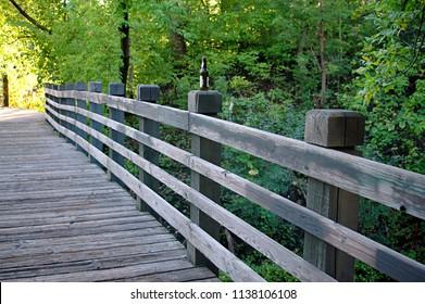Urban Foot bridge in Minneapolis