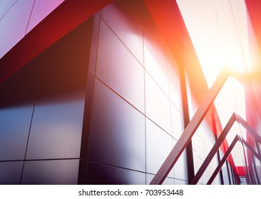 Urban geometry background. Modern architecture