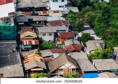 urban house in big city
